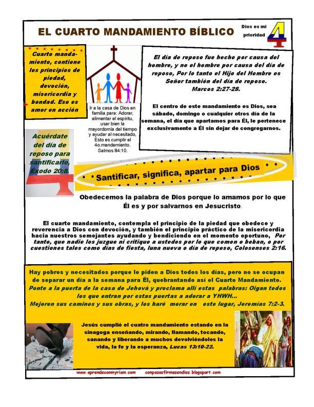 EL CUARTO MANDAMIENTO-WORD PRESS-diapositiva