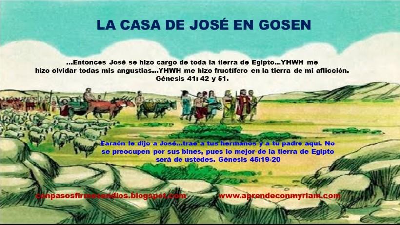 La casa de José en Gosén